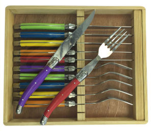 24PCS ABS Handle Laguiole Stainless Steel Color Flatware Wholesale (SE-K033) pictures & photos