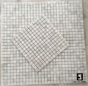 Bianco Carrara White Mosaic Tile / Marble Mosaic Floor Tile pictures & photos