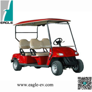 High Quality and Good Shape 4 Seat Electric Golf Car in Red Color, CE Approved pictures & photos