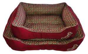 Bone Printed Style Dog Cat Pet Beds (WY161054A/B) pictures & photos