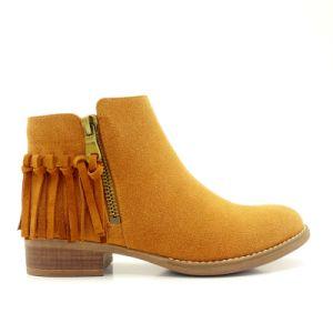 Four Color Comfortable Fashion Women Shoes Ankle Tassel Boots pictures & photos