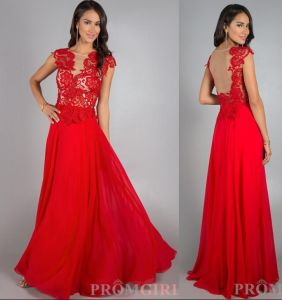 Red Chiffon Beach Wedding Dress Backless Party Prom Evening Dress E13172 pictures & photos