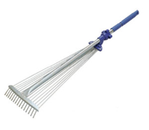 Garden Telescopic Rake with Adjustable Head pictures & photos