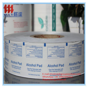 Printed Aluminium Foil Paper for Alcohol Prep Pad and Alcohol Wipes pictures & photos