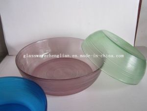 Solid Color Round-Shape Glass Plate (P-017) pictures & photos
