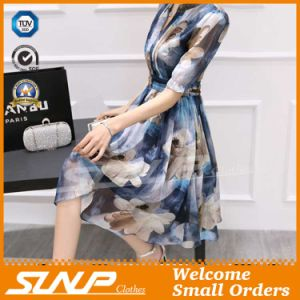 New Design V-Neck Women′s Chiffon Sleeveless Ladies Dress/Skirt