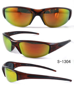 New Fashion Plastic Sports Sunglasses with Mirror UV400 CE FDA