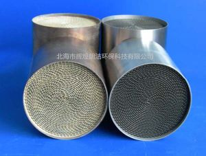 Automotive Metal Honeycomb Catalytic Converter (Euro V emission standards) pictures & photos