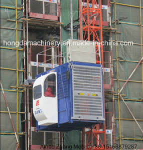 Construction Hoist with 1 and 2 Ton Load pictures & photos