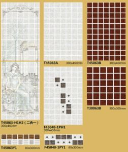 Coffee Color Glazed Ceramic Wall Tile