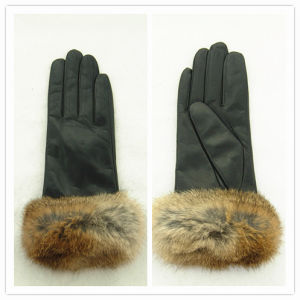 Lady Fashion Leather Gloves (JYG-25172) pictures & photos