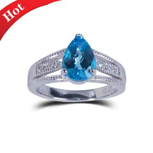 Fashion 925 Silver Gemstone Ring pictures & photos