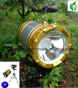 Solar Charged LED Fishing Lamp with Blue Lighting and White Camp Lighting and Solar Recharging pictures & photos