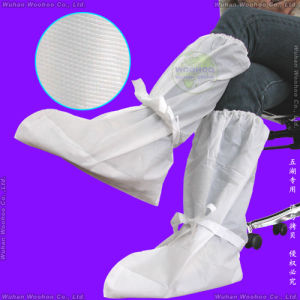Polypropylene Nonwoven/PP/SMS/PP+PE/Medical/Surgical/Hospital/Plastic/Polyethylene/Poly/HDPE/LDPE/Waterproof Disposable CPE Boot Cover, Disposable PE Overboots pictures & photos