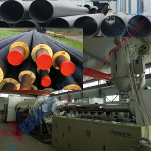 HDPE Insulating Pipe Extrusion Line Oil Pipe Making Machine pictures & photos