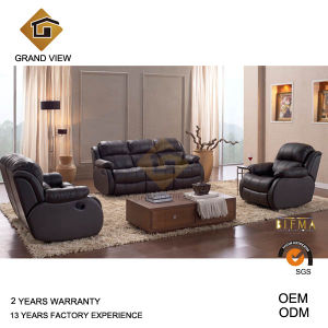 Brown Synthetic Leather Recliner Sofa (GV-RS864) pictures & photos