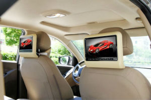 7/9/10.1inch HD LED Clip on Active Car Headrest Monitor with DVD Player Function pictures & photos