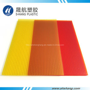 Frosted Yellow Red Twin-Wall Polycarbonate Plastic Plate pictures & photos