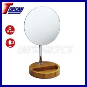 7 Inch Wooden Table Frameless Cosmetic Mirror