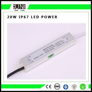 20W Constant Voltage IP65 IP67 12V Waterproof LED Power Supply, Waterproof Power Supply pictures & photos