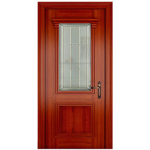 China oppein classic high quality glass interior wood door for Good quality interior doors