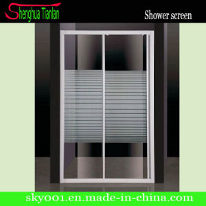 No Tray Square Sliding Door Stripe Glass Shower Enclosure (TL-411) pictures & photos