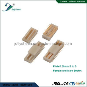 pH0.8 SMT Board to Board Female and Male Socket Mated H4.0mm pictures & photos