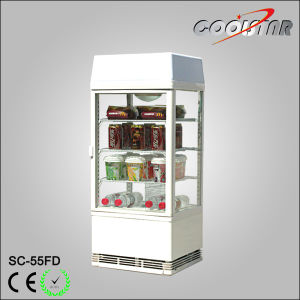 Commercial Countertop Soft Drink Refrigerating Showcase with Light Box (SC-55FD) pictures & photos