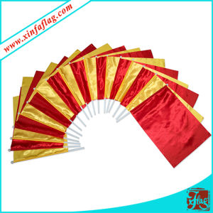 Customized Hand Held Flags with Plastic Pole pictures & photos