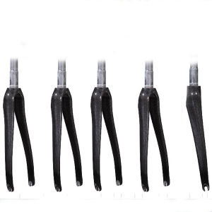 Clear Coating Headset 1-1/4′′ Offset 45 700c Full Carbon Bicycle Road Bike Fork