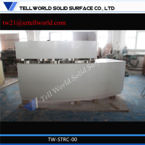 Luxury White Gloss L Shape Front Counter Displaycupboard Mini pictures & photos