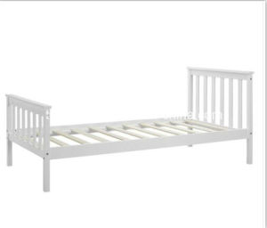 Single Bed in White 3FT Single Bed Wooden Frame White pictures & photos