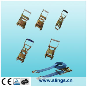 China Made Polyester Lifting Sling with Double J Hook pictures & photos
