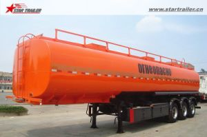 3axles Carbon Steel Semi Petrol /Diesel Tank Trailer pictures & photos