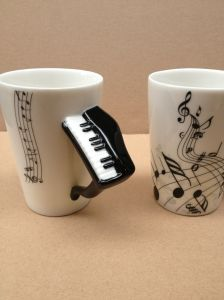 Fine Bone China Music Mug with Piano Handle