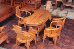 High -End 6sets Burma Padauk Leisure Tea Table with Simple Style pictures & photos