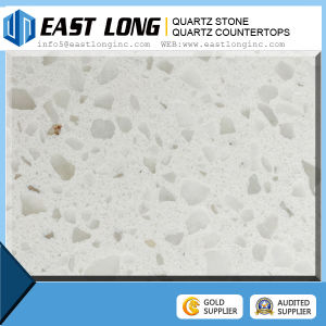 Cream Color Sparkle Artificial Quartz Stone Slab for Countertop pictures & photos