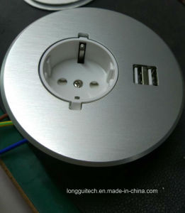 Desktop Socket with USB Charger Lgt-810e pictures & photos
