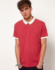 Fashion Nice Cotton/Polyester Panel Polo Shirt (P037) pictures & photos