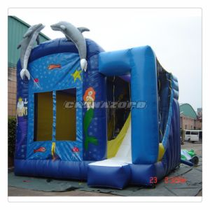 Big Dolphin on Front Inflatable Castle Combo for Sale