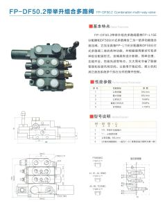 Three Spool Hydraulic Multiway Control Industrial Valve with Lifting 4wree6 pictures & photos