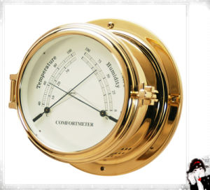 Best Quality Brass Nautical Thermometer and Hygrometer Dia 150mm pictures & photos