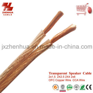 Hi Quality CCA 2X4mm2 2X6mm2 Transparent Speaker Wire Cable pictures & photos