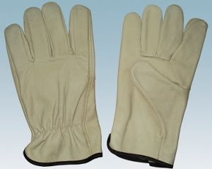Pig Skin Leather Driver Gloves pictures & photos