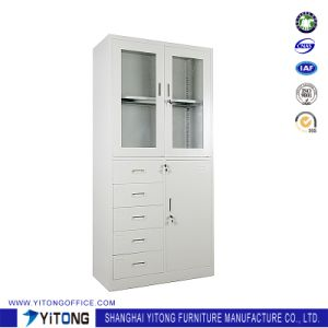 3-Door 5-Drawer Metal Storage Cabinet / Office Use Steel File Cabinet pictures & photos