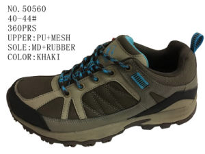 Khaki Color Men Hiking Shoes pictures & photos