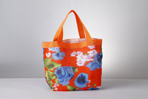 Promotion Folding Printing Handle Cotton Shopping Bag pictures & photos