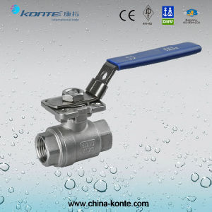 Stainless Steel Threaded 2PC Ball Valve with Mounting Pad pictures & photos
