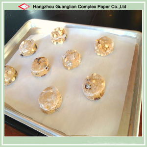 High Temperature Resistant Silicon Parchment Paper Cookie Baked pictures & photos