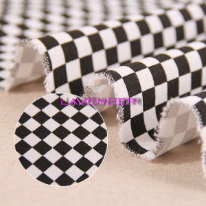 Black&White Checkerboard Patterns 250GSM Home Textile Canvas Fabric pictures & photos